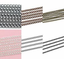 6.56ft silver/bronze/black curb Chain 4x3mm Link opened Findings Jewelry DIY P9