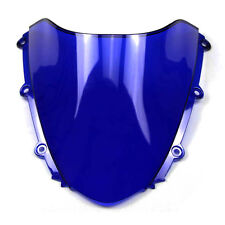 Double Bubble Windscreen Windshield for Honda CBR1000RR 04-07 Clear Blue Black
