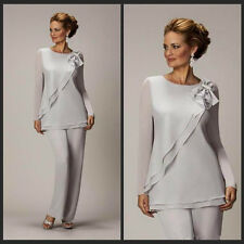 Mother of the Bride Bridesmaids Formal Dresses Grey Chiffon Size 4 6 8 10 14 16