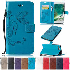 Butterfly Stand Card Wallet Leather Flip Case Cover For iPod Touch 5 5nd/6 6nd