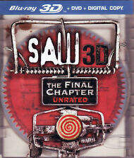 Saw 7 3D: The Final Chapter (2 Disc, 3D Blu-ray + DVD, Unrated) 3D BLU-RAY NEW