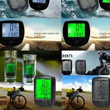 New LCD BackLight Cycle Bicycle Bike Computer Speedometer Odometer Waterproof WN