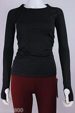 Lululemon Swiftly Tech Long Sleeve Crew Tee Black Blk LS Top --- NWT Size 2 4 6