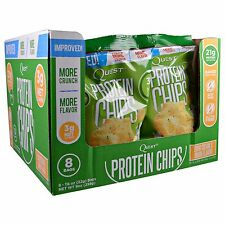 Quest Nutrition Protein Chips Sour Cream & Onion 8 bags - Gluten Free