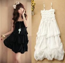 Japan Lolita Kawaii Cute Sweet Dolly princess Lace Chiffon strapless Nana dress