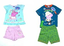Peppa George Pig Dinosaur Shorts Pyjamas Girls Boys Baby 12 Months - 5 Years