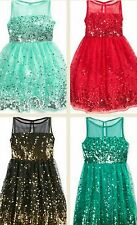Crystal Doll Girls Sequin Illusion Pageant Birthday Party Dress (Color/size) NEW