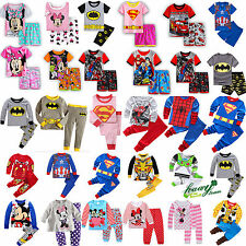 Children Kids Boys Girls Cartoon Sleepwear Baby Nightwear Pj's Pyjamas Set 0-8Y