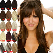 Clip in 100% Remy Real Human Hair Extensions Brown Black Blonde in stock 20 inch