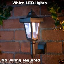 Solar Powered No wiring Required Coach Style Wall ultra Bright LED Light