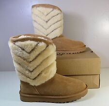 NWT WOMEN'S UGG AUSTRALIA TANIA CHESTNUT SUEDE CLASSIC SHORT BOOTS SHOE SZ 6-10