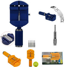 Blue Durable Watch Band Sizing Link Pin Remover Repair Plier Kit Tool + 5 Pins