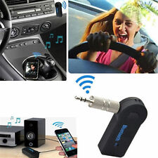 Mic Wireless Bluetooth 3.5mm AUX Audio Stereo Music Home Car Receiver Adapter @#