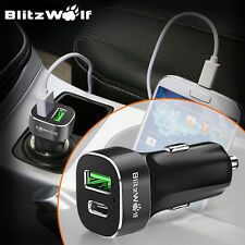 [Qualcomm 2.0] BlitzWolf BW-C7 Quick Charge USB Type C Car Dual Charger 33W 3A