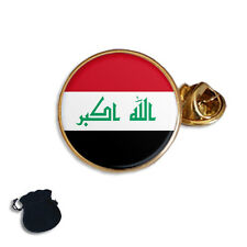 IRAQ FLAG COAT OF ARMS  ENAMEL LAPEL PIN BADGE GIFT