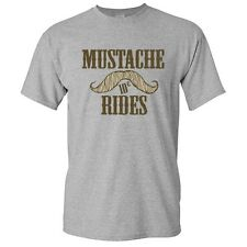 Mustache Rides Sarcastic Humor TV Graphic Gift Men's  Funny Novelty T-Shirt