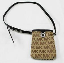 Authentic New With Tag! Michael Kors MK Women's Leather Belt Bag IN Black 551501
