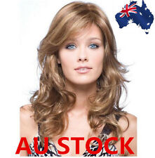 50cm Women Middle Long Cropped Curly Wig Cosplay Full Wigs Flaxen & Brown Color