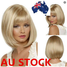 Women Short Bob Straight Wig Cosplay Party Straight Hair Cosplay Full Wigs