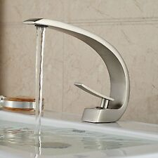 Modern Single Lever Copper Bathroom Lavatory Vanity Sink Faucet Basin Mixer Tap