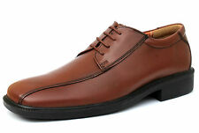 Renaissance UK 6 to 10 Mens Brown Leather Lace Up Smart Casual/Formal New Shoes