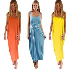 Women Hippie Boho Evening Party Cocktail Beach Dress Long Maxi Casual Dress SML