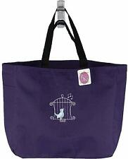 Pretty Songbird in Cage Monogram Custom Embroidered Essential Style Tote Bag NWT