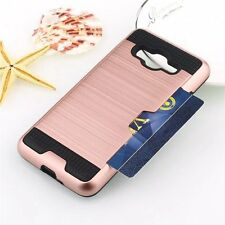 Shockproof Hybrid Rubber Card Case Cover for Samsung Galaxy J2 Prime SM-G532