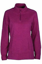 Womens Berry Red/Pink Outdoor Hiking Walking Fleece Top Jacket By Mountainlife