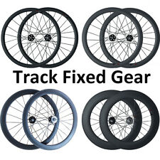 23mm Width 38 50 60 88mm Clincher Carbon Track Fixed Gear Bike Bicycle Wheelset