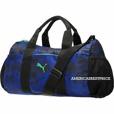PUMA NEW SMALL RHYTHM DUFFLE BAG/GYM TRAVEL BAG TRAINING NWT  BLUE / BLACK NICE