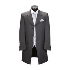 MEN'S EX HIRE CHARCOAL GREY CLASSIC PRINCE EDWARD JACKET FOR WEDDINGS