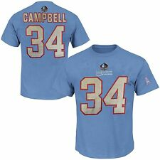 Earl Campbell Houston Oilers NFL 3 Hit Mens Player Shirt Blue Big & Tall Sizes