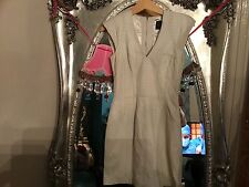 FRENCH CONNECTION CREAM LEATHER DRESS NEW WITH TAGS RRP £160 SIZE 6