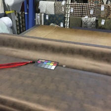 """Bronze Metallic Brown Faux Leather Upholstery Vinyl Fabric By The Yard 54""""W"""