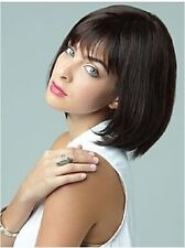 Fashion Style sexy ladies Short Brown/Black Straight Natural Hair wigs / wig cap