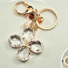 Accessories Car Crystal Key Ring Four Leaf Clover Keychain Pendant Jewelry