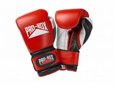 FREE Pro Box Pro-Spar Leather Sparring Gloves Red Boxing Kickboxing Training