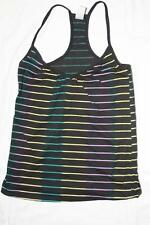 New Black Women's Tank Top Tanktop- with Multicolor Stripes Super Cool- CHEAP$$$