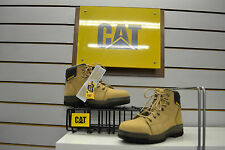Cat Caterpillar Dimen Honey Nubuck Steel Toe Safety Work Boots UK Size 8 EU 42