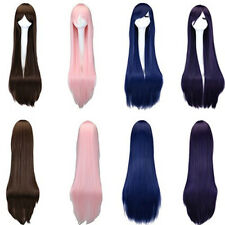 100cm Colorful Women Long Straight Wigs Heat Resistant Cosplay Costume Party Wig