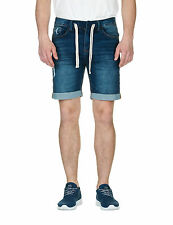 Sublevel Men's Man's Bermuda Shorts In Dark Blue Color Cotton