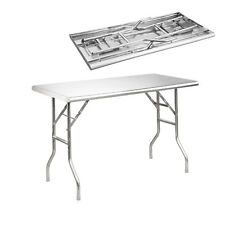 """Royal Gourmet Stainless Steel Folding Work Table Kitchen Table 48"""" L x 24"""" W"""
