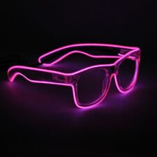 El Wire Glowing Glow in Dark Electric Led Neon Rave Party Festival Glasses
