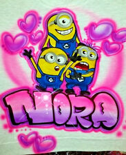 Custom Airbrushed Minions Design (Sizes 6 months - Adult 5XL)