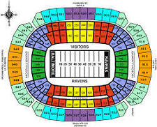 Baltimore Ravens 2017 Season Tickets- 2 tickets- Section 530, Row 29