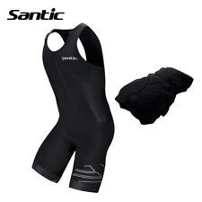 Santic Triathlon 4D Pad Quick Dry Sleeveless Jersey For Swimming Running Cycling