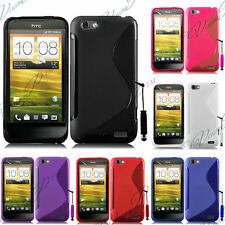 Case Cover TPU Silicone GEL Soft S Grounds Wave HTC One S + Film
