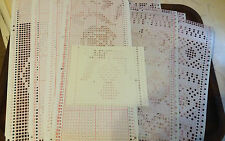 PC2 BROTHER KNITTING MACHINE  MYLAR 24 STITCH PUNCHCARD PRE PUNCHED CARDS X 10