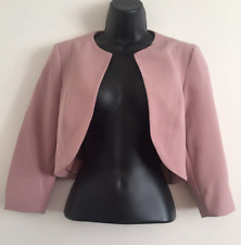 NEW Ex DP Size 10-18 Blush Pink Tailored Fit Structured Crop Soft Blazer Jacket